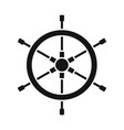 wheel and ship sign set of vector image