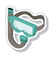 snorkel mask isolated icon vector image