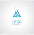 triangle bottlelab sience logo vector image