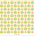 stylish floral seamless pattern cute flowers in vector image