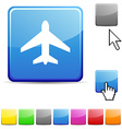 Aircraft glossy button vector image