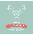 Christmas deer decoration design Typographic vector image