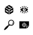 3d graphic design simple related icons vector image vector image