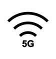 5g icon with wifi sign vector image