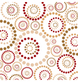 abstract circles pattern vector image vector image