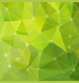 abstract green triangle background vector image vector image
