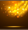 abstract orange glowing background vector image