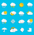 abstract paper weather icons vector image vector image