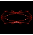 Abstract red ornament on black background vector image vector image