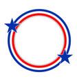 abstract usa flag round frame