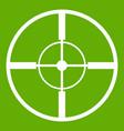 aim icon green vector image vector image