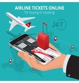 Airline tickets online Buying or booking Airline vector image vector image