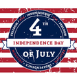 American holiday Independence Day vector image vector image