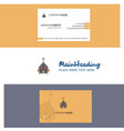 beautiful church logo and business card vertical vector image vector image