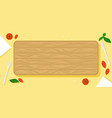 beautiful food background with wooden cutting vector image