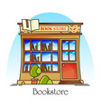 bookstore or book shop store for literature vector image