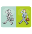 Businessman talking on the mobile phone vector image