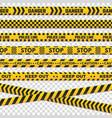 caution perimeter stripes isolated black vector image