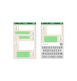 chat sms application template message vector image