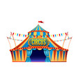 classic red yellow travel circus tent on vector image vector image