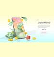 concept digital money vector image vector image