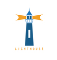 Concept template with lighthouse in flat design vector image vector image