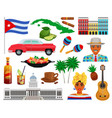 cuba travel set vector image