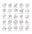 data analysis isometric icons vector image vector image