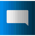 dialog box icon on blue background vector image vector image