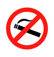 dont smoke prohibition sign vector image vector image
