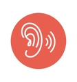 Ear thin line icon vector image