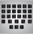 elegant alphabet set