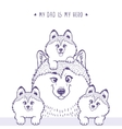 Family Husky silhouette vector image vector image
