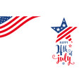 fourth july 4th july celebration holiday vector image vector image