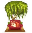 Fox on sofa vector image