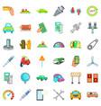 garage icons set cartoon style vector image vector image