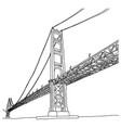 golden gate bridge sketch doodle vector image