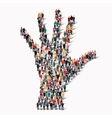 group people shape hand vector image