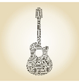 Guitar from notes vector image vector image