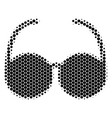 halftone dot spectacles icon vector image vector image
