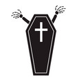 halloween coffin icon simple style vector image