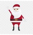 happy santa claus icon cartoon style vector image