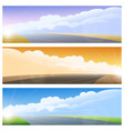highway road background set vector image vector image