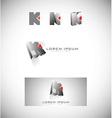 Letter k logo icon set vector image vector image