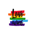 lgbt concept with rainbow 8 vector image vector image