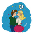 love guy and girl hugging vector image vector image