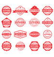 made in south korea label set on white background vector image vector image