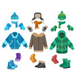 male winter clothing vector image vector image
