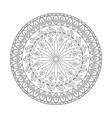 mandala flowers black and white vector image vector image