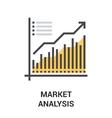 market analysis icon concept vector image vector image